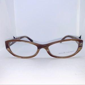 Ralph Lauren Brown Horn Vintage Effect Eyeglasses